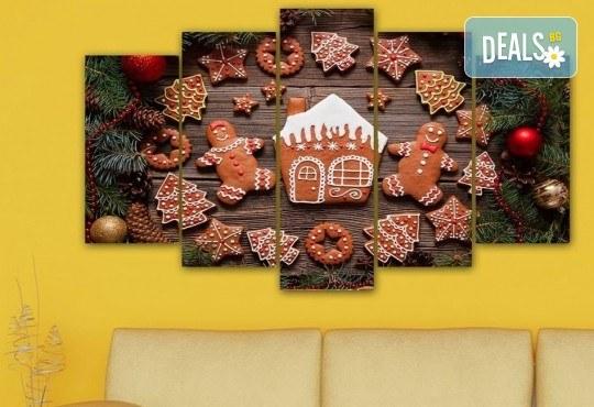 Коледна картина! 1 или 2 картини от по 5 части с коледни мотиви и богат избор на дизайни от каталога на Stardeko! - Снимка 9