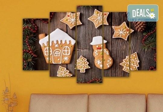 Коледна картина! 1 или 2 картини от по 5 части с коледни мотиви и богат избор на дизайни от каталога на Stardeko! - Снимка 10