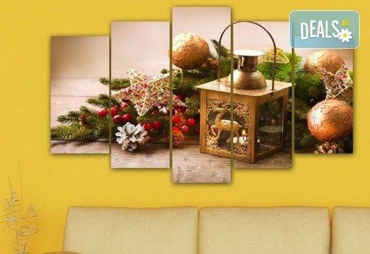 Коледна картина! 1 или 2 картини от по 5 части с коледни мотиви и богат избор на дизайни от каталога на Stardeko! - Снимка 15