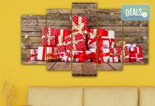 Коледна картина! 1 или 2 картини от по 5 части с коледни мотиви и богат избор на дизайни от каталога на Stardeko! - Снимка 16