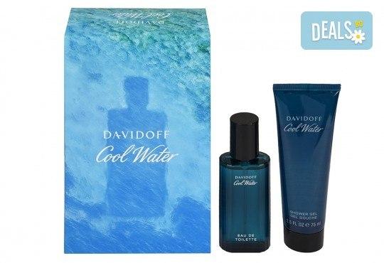 Вземете оригинален подаръчен комплект Cool Water Davidoff за мъже - тоалетна вода и душ гел + безплатна доставка! - Снимка 1