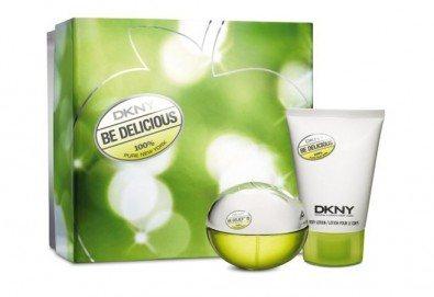 Иконичен аромат с дъх на свежест! Оригинален подаръчен комплект DKNY Be Delicious, включващ парфюм и душ гел + безплатна доставка! - Снимка