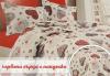 Подарък за дома! Луксозен комплект спално бельо ранфорс, 100% памук, двоен или единичен, десени от колекция Любов, Zavivkite.com! - thumb 8