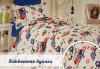 Подарък за дома! Луксозен комплект спално бельо ранфорс, 100% памук, двоен или единичен, десени от колекция Любов, Zavivkite.com! - thumb 2