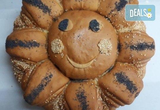 Погача с орнаменти за рождени дни, кръщенета, сватби, освещаване и други празнични поводи от Пекарна Слънце! - Снимка 5