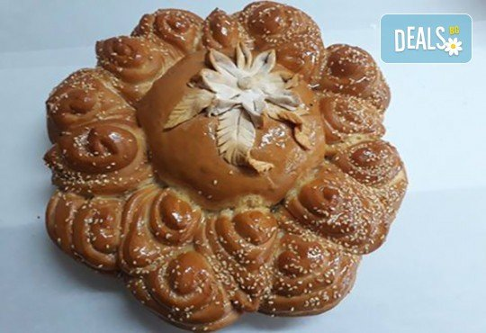 Погача с орнаменти за рождени дни, кръщенета, сватби, освещаване и други празнични поводи от Пекарна Слънце! - Снимка 2