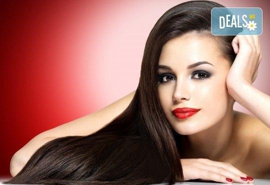 Полиране на коса - премахване на цъфтежите, без отнемане на дължината, интензивна хидратираща терапия и прав сешоар във фризьорски салон Даяна! - Снимка 1