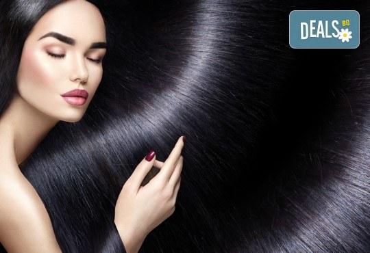 Полиране на коса с полировчик, арганова терапия, подстригване и оформяне със сешоар в студио за красота Secret Vision - Снимка 2