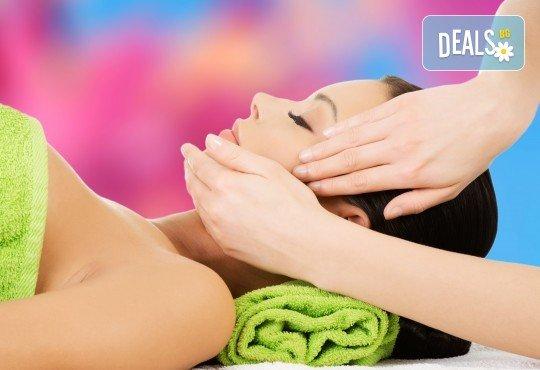 Релаксиращ масаж на лице и лимфен дренаж в салон за красота Слънчев ден
