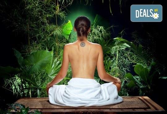 150 минути Аюрведичен микс! Абянга масаж на цяло тяло, Hot Stone терапия и козметичен масаж на лице, шия и деколте с аюрведична козметика в център GreenHealth - Снимка 1