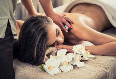 150-минутен SPA-MIX Зимна грижа! Лимфодренажен ръчен масаж на крака, Hot Stone терапия с вулканични камъни, рефлекторен масаж на стъпала, пресотерапия с Bio Compression Systems и йонна детоксикация в Green Health! - Снимка