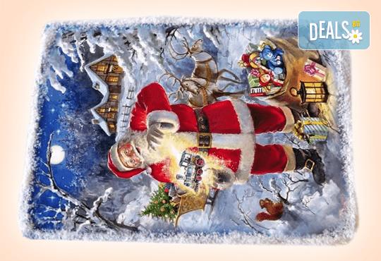 За Коледа и Нова година! Kоледна торта 16 парчета със снимка за празниците от Muffin House! - Снимка 3