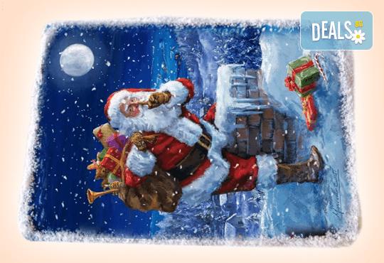 За Коледа и Нова година! Kоледна торта 16 парчета със снимка за празниците от Muffin House! - Снимка 2