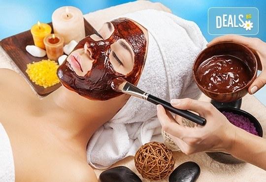 Релаксираща СПА терапия за лице с шоколад и масаж в Senses Massage & Recreation