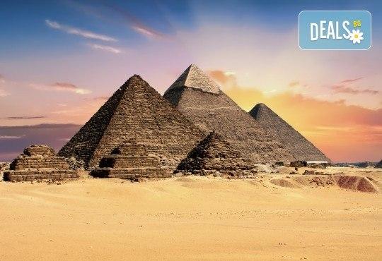 Екскурзия до Египет: самолетен билет, водач, 7 нощувки на база All и Закуска, обяд и вечеря, круиз по Нил