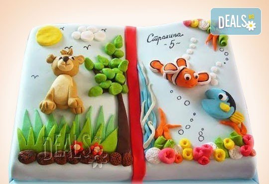 25 парчета! Детска 3D торта с фигурална ръчно изработена декорация от Сладкарница Джорджо Джани - Снимка 23