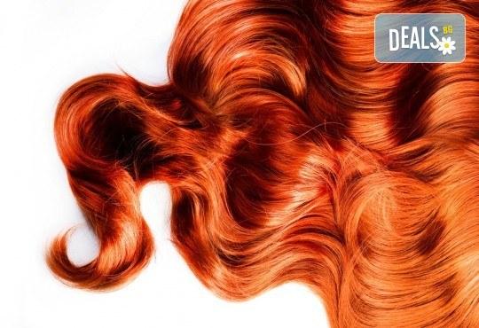 Подстригване, боядисване с боя на клиента, възстановяваща терапия със серум и оформяне със сешоар в козметично студио Beauty! - Снимка 2