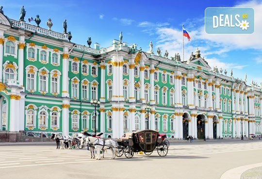 Ранни записвания за Белите нощи в Санкт Петербург, Русия! 5 нощувки със закуски, полет от Бургас с билет, летищни такси, трансфери, водач - Снимка 1