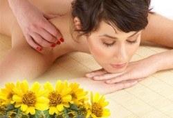 Облекчете неразположенията с 60-минутен болкоуспокояващ масаж ''Бабините разтривки'' на цяло тяло с арника в студио Giro! - Снимка