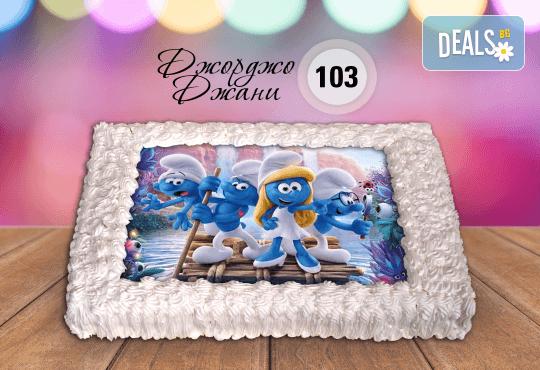 За най-малките! Торта със снимка за празника на Вашето дете с герой от филмче по дизайн от Сладкарница Джорджо Джани! - Снимка 1