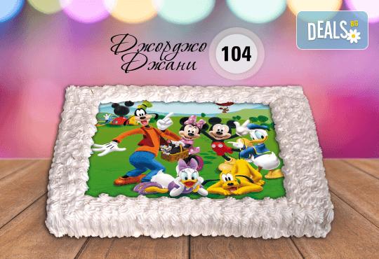 За най-малките! Торта със снимка за празника на Вашето дете с герой от филмче по дизайн от Сладкарница Джорджо Джани! - Снимка 6