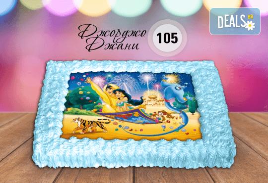 За най-малките! Торта със снимка за празника на Вашето дете с герой от филмче по дизайн от Сладкарница Джорджо Джани! - Снимка 3
