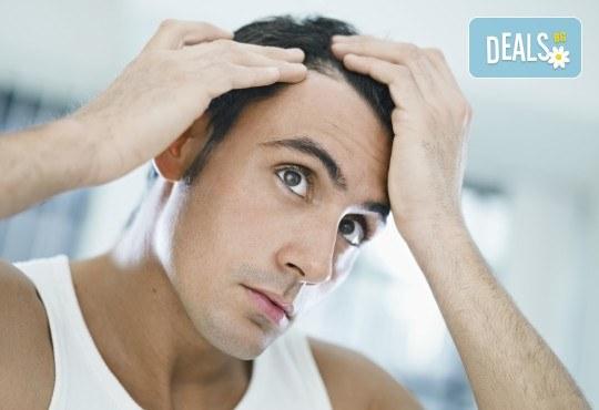 Мъжко подстригване, масажно измиване, маска според нуждите на косата, прическа със сешоар и стилизиране в студио Шедьовър - Снимка 2
