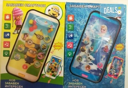 Изненадайте своя малчуган! Детски смартфон Миньоните или Леденото кралство с български приказки и песни от Магнифико! - Снимка 1
