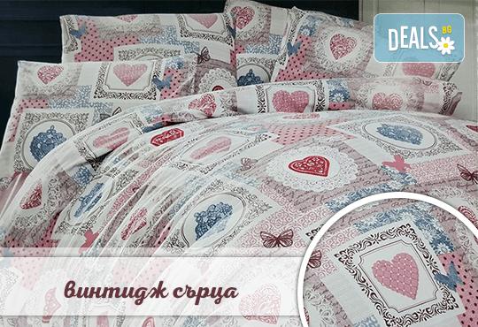 Семеен подарък! Лукозен комплект спално бельо, внос от Турция + подаръчна кутия от Zavivkite.com! - Снимка 1