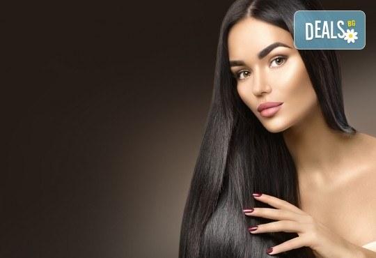 Възстановяваща терапия за коса, инфраред преса и оформяне на прическа със сешоар, в студио BLOOM beauty & spa! - Снимка 1