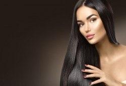 Възстановяваща терапия за коса, инфраред преса и оформяне на прическа със сешоар, в студио BLOOM beauty & spa! - Снимка