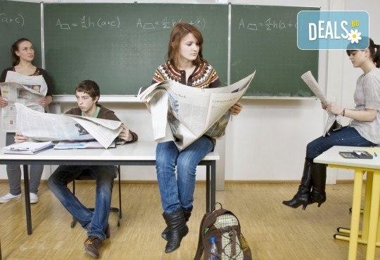 Тримесечен курс за първо ниво по бизнес английски, комуникация с чуждестранни преподаватели и включени учебни материали и онлайн ресурси от международна школа Шекспир - Снимка 1