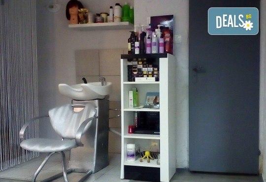 Терапия за коса с макадамия, подстригване, масажно измиване, маска с макадамия и оформяне на ежедневна прическа в студио LD - Снимка 7