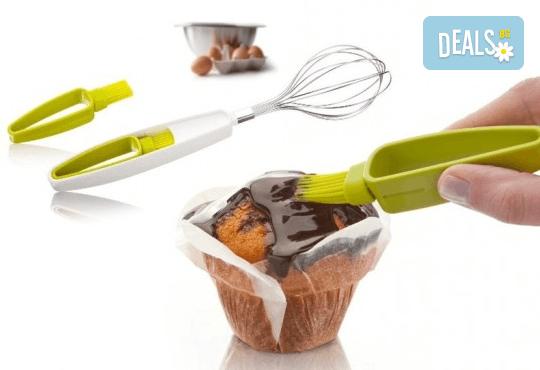 Бъркалка за яйца и четчица за сладкиши на фирмата Vacivin