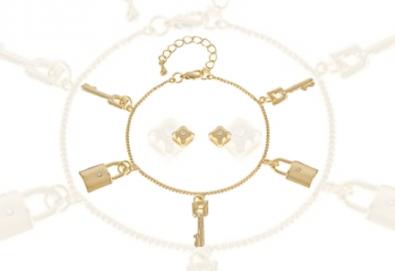 Вземете стилен комплект Pierre Cardin - гривна и обеци, и изненадайте Вашата любима! - Снимка