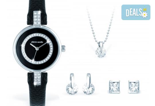 Вземете стилен комплект за подарък - часовник, колие и два чифта обеци от Pierre Cardin + безплатна доставка! - Снимка 1