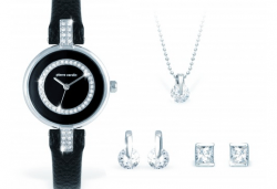 Вземете стилен комплект за подарък - часовник, колие и два чифта обеци от Pierre Cardin + безплатна доставка! - Снимка