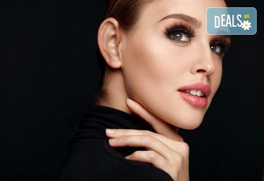 Поставяне на копринени мигли по метода косъм по косъм или 3D от козметично студио Ма Бел! - Снимка 1