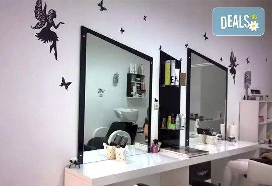 Подстригване, боядисване с боя на клиента и прическа със сешоар, в Салон за красота Визия и Стил, Пловдив! - Снимка 5