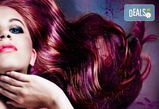 Подстригване, боядисване с боя на клиента и прическа със сешоар, в Салон за красота Визия и Стил, Пловдив! - Снимка 1