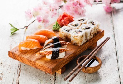 Екзотично, вкусно и на добра цена! Хапнете суши сет с 16 или 24 хапки от Central Lounge Bar в центъра на София! - Снимка