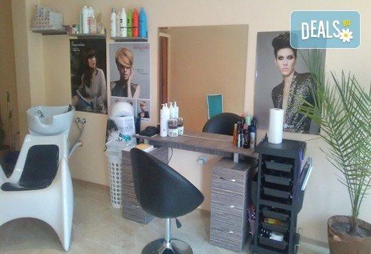 Арганова или кератинова терапия за коса, полиране и оформяне на прическа със сешоар в студио за красота Jessica - Снимка 6