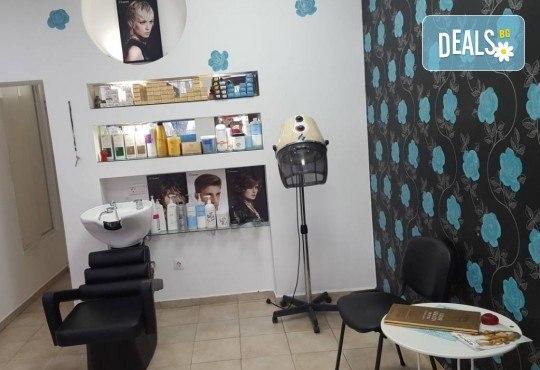 Кератинова терапя с продукти на Selective, масажно измиване и подсушаване със сешоар в салон за красота Суетна! - Снимка 3