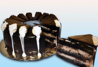Сладки моменти със сладкарница Дао! Вземете торта Деликат с 8 или 12 парчета и възможност за пожелание или надпис по избор - Снимка