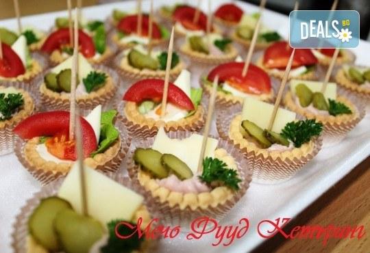 За Вашето събитие! 90, 120 или 150 броя разнообразни по вкус хапки на Мечо Фууд Кетъринг! - Снимка 5