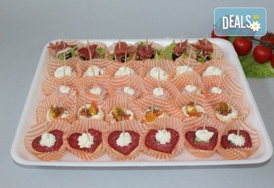 За Вашето събитие! 90, 120 или 150 броя разнообразни по вкус хапки на Мечо Фууд Кетъринг! - Снимка 2