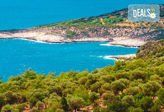 Мини почивка на о. Тасос, Гърция: 3 нощувки със закуски и вечери, транспорт