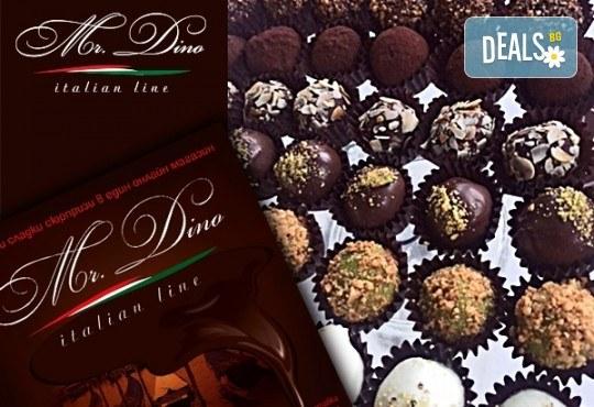 Сладко изкушение! Кутия с 35 профитероли с маскарпоне с вкус ванилия и 49 белгийски шоколадови трюфела от Mr. Dino Italian Line - Снимка 7
