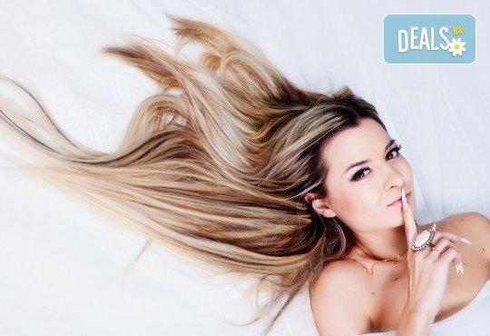 Кичури в стил омбре, терапия за защита на косата при обезцветяване и тониране в салон за красота Суетна! - Снимка 3
