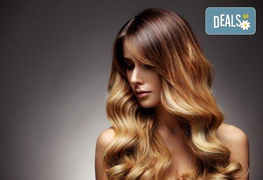 Кичури в стил омбре, терапия за защита на косата при обезцветяване и тониране в салон за красота Суетна! - Снимка 2